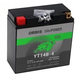 Orbis 12V 12Ah GEL YT14B-4 GT14B-4  Motorradbatterie