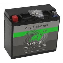 Orbis 12V 18Ah GEL YTX20-BS 82001 Motorradbatterie