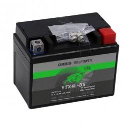 Orbis12V 3Ah GEL YTX4L-BS 50314 Motorradbatterie