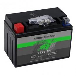 Orbis Motorradbatterie 12V 8Ah Gel YTX9-BS GEL12-9-BS