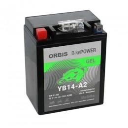 Orbis Motorradbatterie 12V 14Ah Gel YB14-A2 GEL12-14-A2