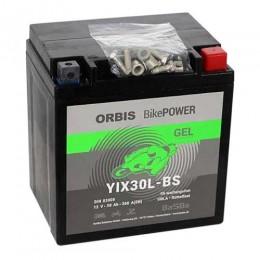 Orbis Motorradbatterie 12V 30Ah Gel YIX30L-BS GEL12-30L-BS