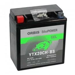 Orbis Motorradbatterie 12V 18Ah Gel YTX20CH-BS GEL12-20CH-BS