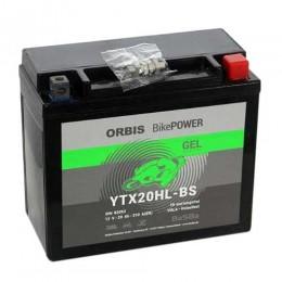 Orbis Motorradbatterie 12V 20Ah Gel YTX20HL-BS GEL12-20HL-BS