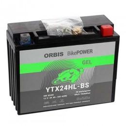 Orbis Motorradbatterie 12V 24Ah Gel YTX24HL-BS GEL12-24HL-BS
