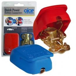 QUICK-Power Batterie-Polklemmen-Satz (Plus & Minus) Standard DIN Konuspole mit Kabelklemme