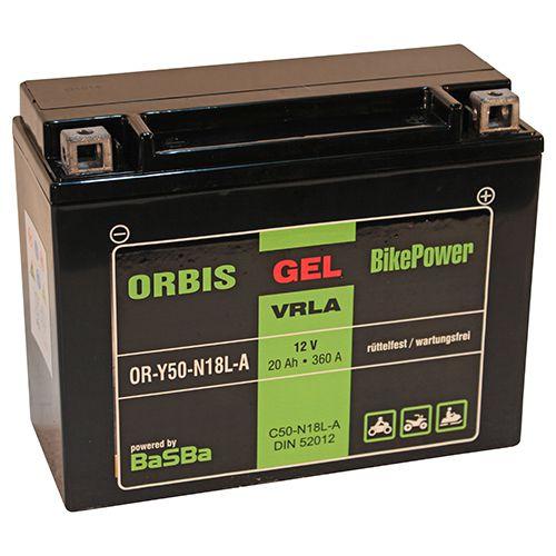 Motorrad Batterie Starterbatterie 12V 20Ah Y50-N18L-A 52012 wartungsfrei